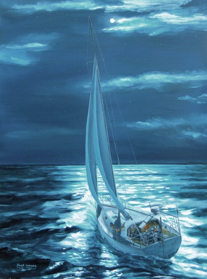 First Lady Kay Cottee marine art jack woods seapainting